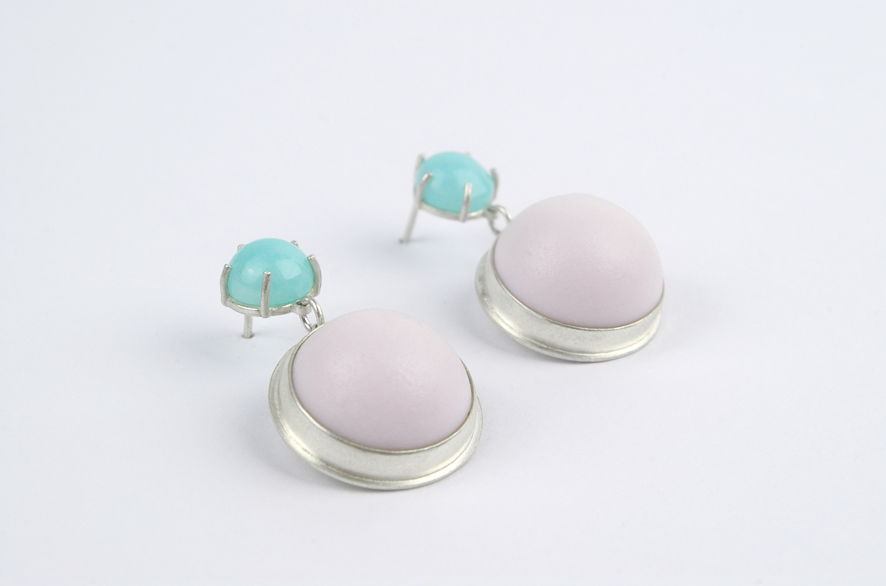 Gumdrop earrings - violet amazonite